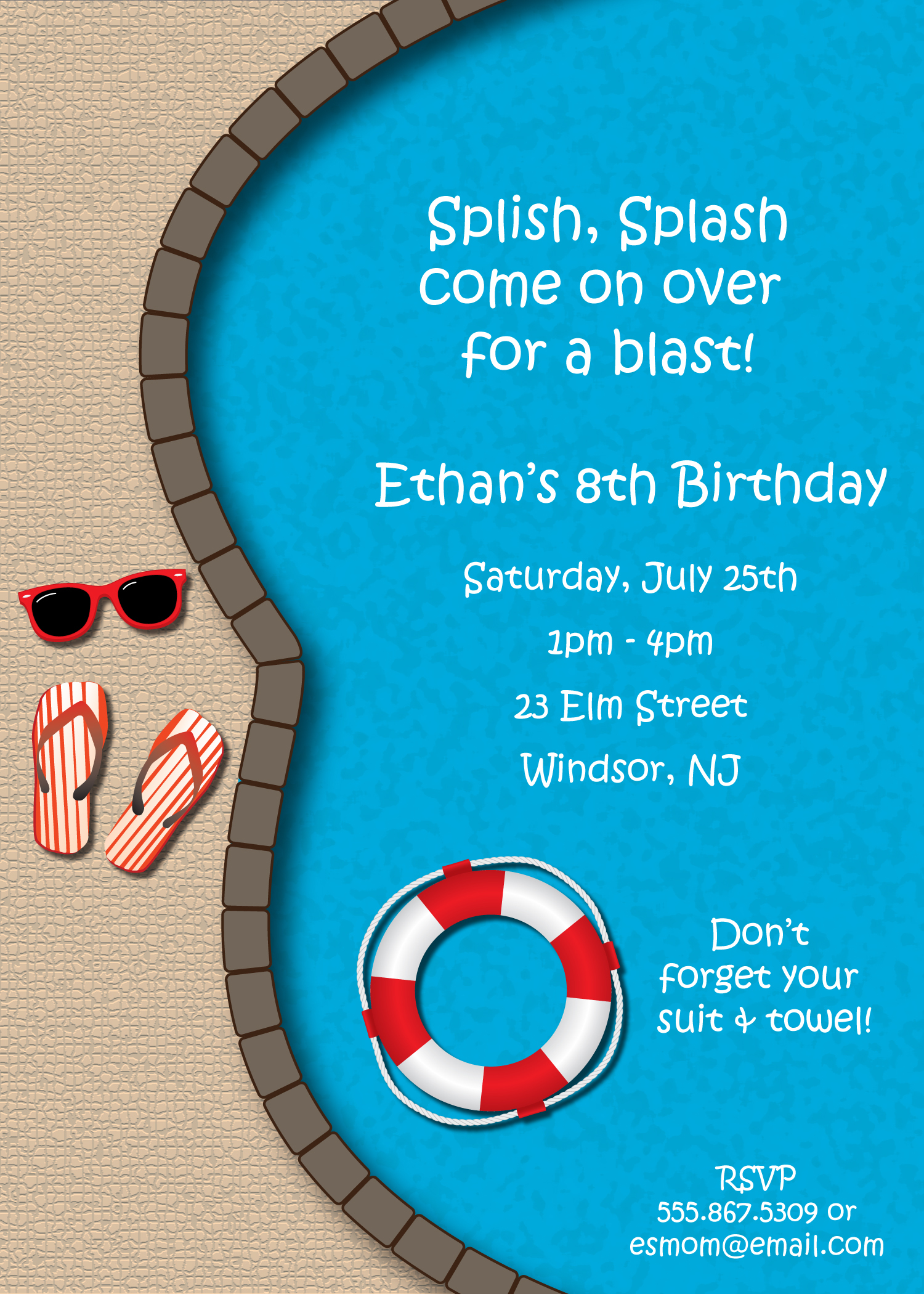 Shark Party Invitations with adorable invitations example