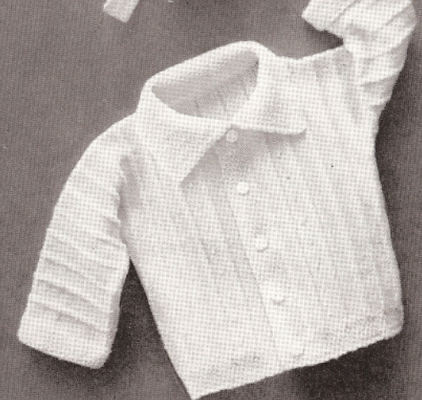 Baby Boy Set Hat Sweater Booties Knitting Pattern Vintage ...