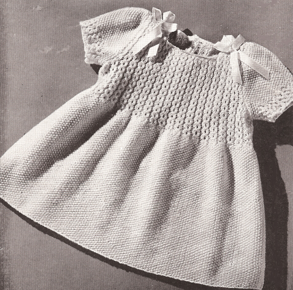 Knitting Dress Patterns For Babies : Vintage toddler coat hat dress smocking knitting patttern