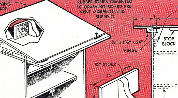 collapsible desk plans