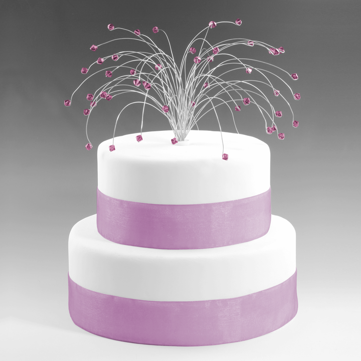 Amethyst Birthstone Cake Topper February on Small Cake
