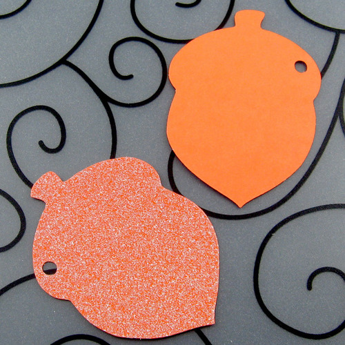 Acorn Wedding Favor Tags