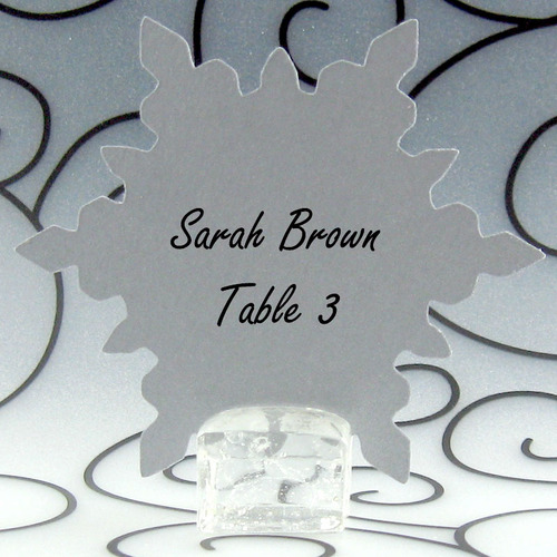 Snowflake Place Card Escort Card