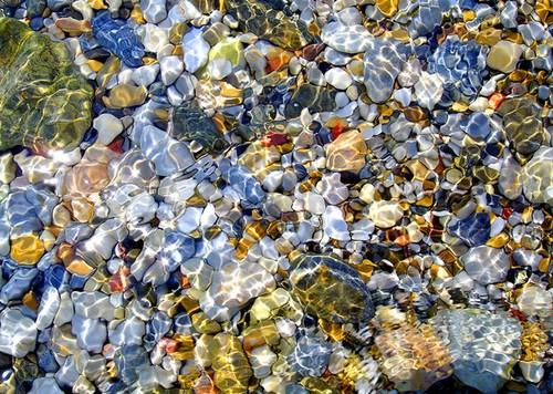 Подводный калейдоскоп фотообои камни