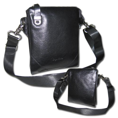 Мужская наплечная сумка из крокодиловой кожи