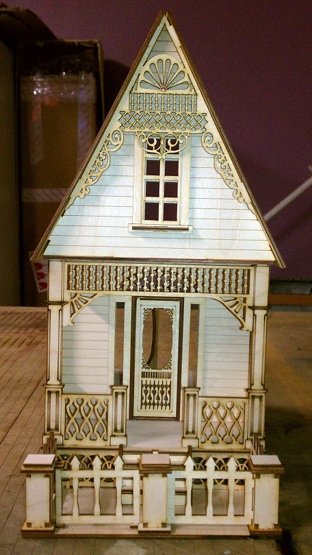 Little ann victorian cottage 1 24 scale dollhouse Victorian cottages kit homes