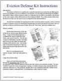 201-Basic Eviction Defense Kit