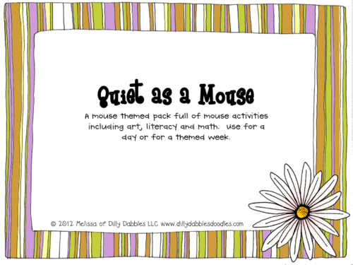 Quiet as a Mouse Theme Learning Pack
