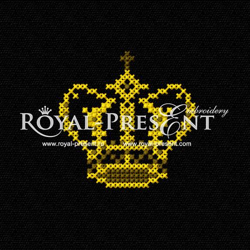 Free cross-stitch machine embroidery design - Crown