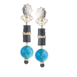 VESSEL EARRINGS - SEA BLUE