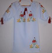 Вишиване платтячко дитяче з квітами