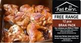 BRAAI Pack 12pce Free Range chicken +1.6kg
