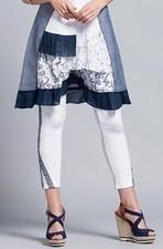 Maloka Denim Designed Rosette Legging