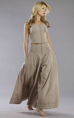 Luna Luz Corset Buckles Culotte Pant More Colors, Some Ship Immed!