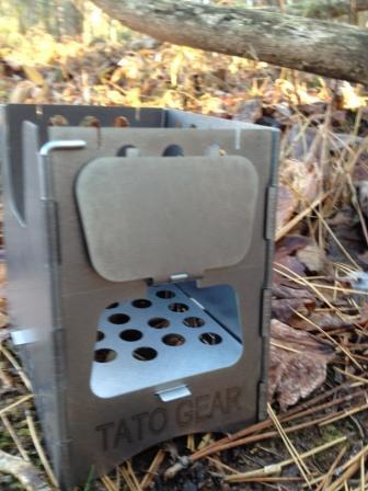 Element wood burning titanium stove TATO Gear