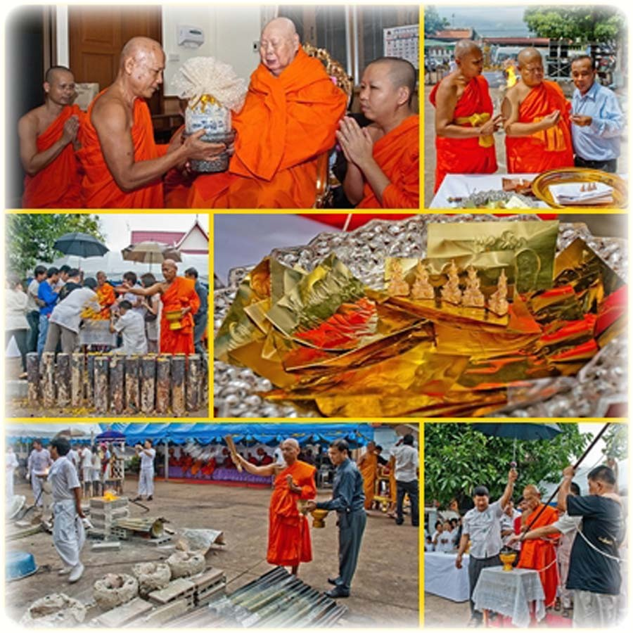 images of the Putta Pisek Blessing ceremony at Wat Nang Paya