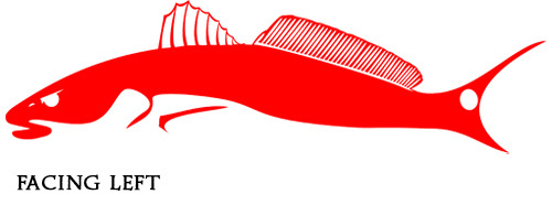Tail Chaser - 3 Color Choices  Redfish DecalRedfish Tail Logo