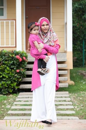 Wajihah 02 - Nursing Blouse (Color-Blocking) FUSCHIA