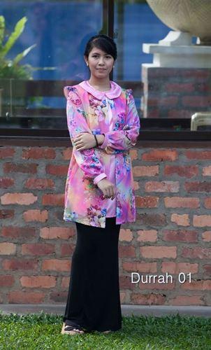 Durrah 01 - Nursing Blouse ala-Cardigan Floral PINK