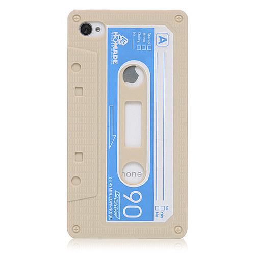 Аудио кассета кейс силиконовый iPhone 4 & iPhone 4S