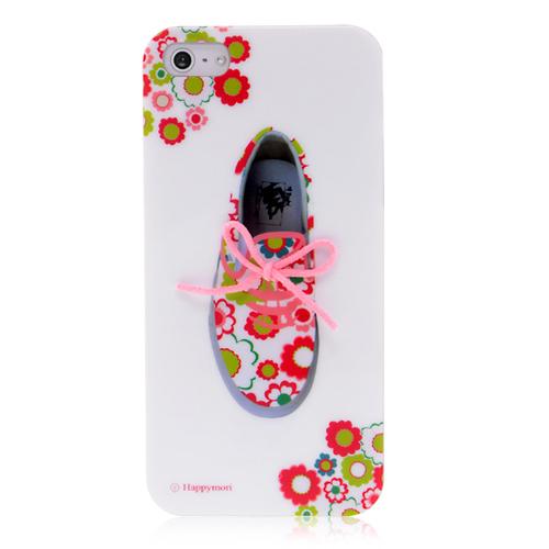 Кейс с текстурой ботинок с 3D розовыми шнурками для iPhone 5