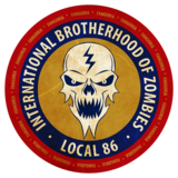 Int'l Brotherhood of Zombies- Local 86 Sticker 00086