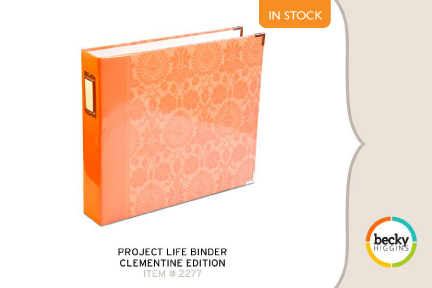 Project Life Binder - Clementine