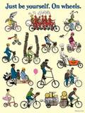 "Just Be Yourself On Wheels 18x24"" Poster 00001"