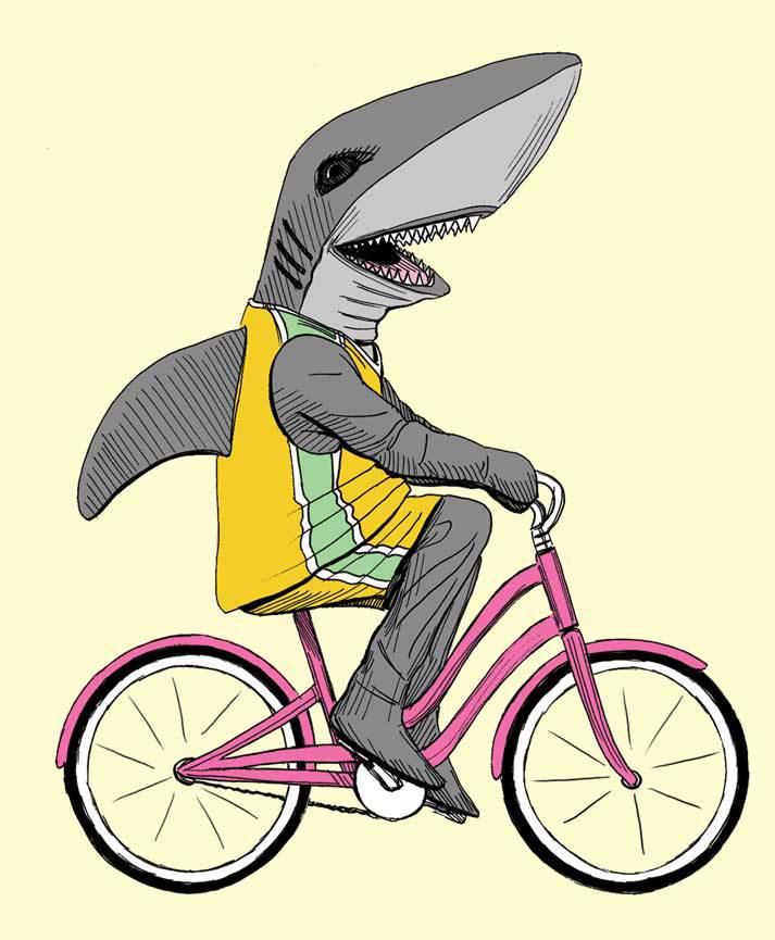 Detail, shark mascot