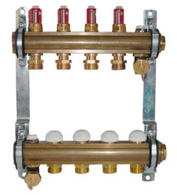 Коллектор Herz для теплого пола с расходомерами