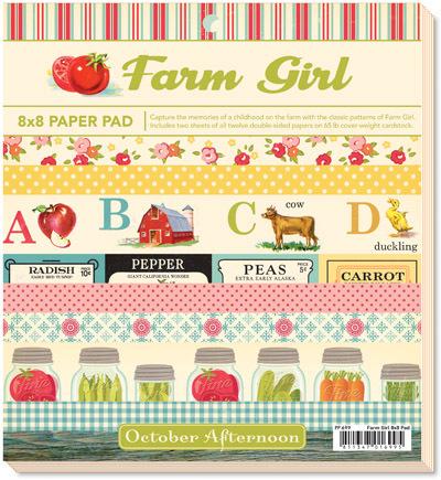 Набор бумаги 20x20 FARM GIRL