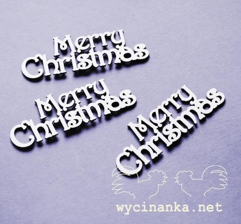 """Чипборд """"Merry Christmas"""""""