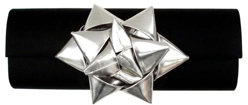 Satin w/Metallic Gift Bow Clutch