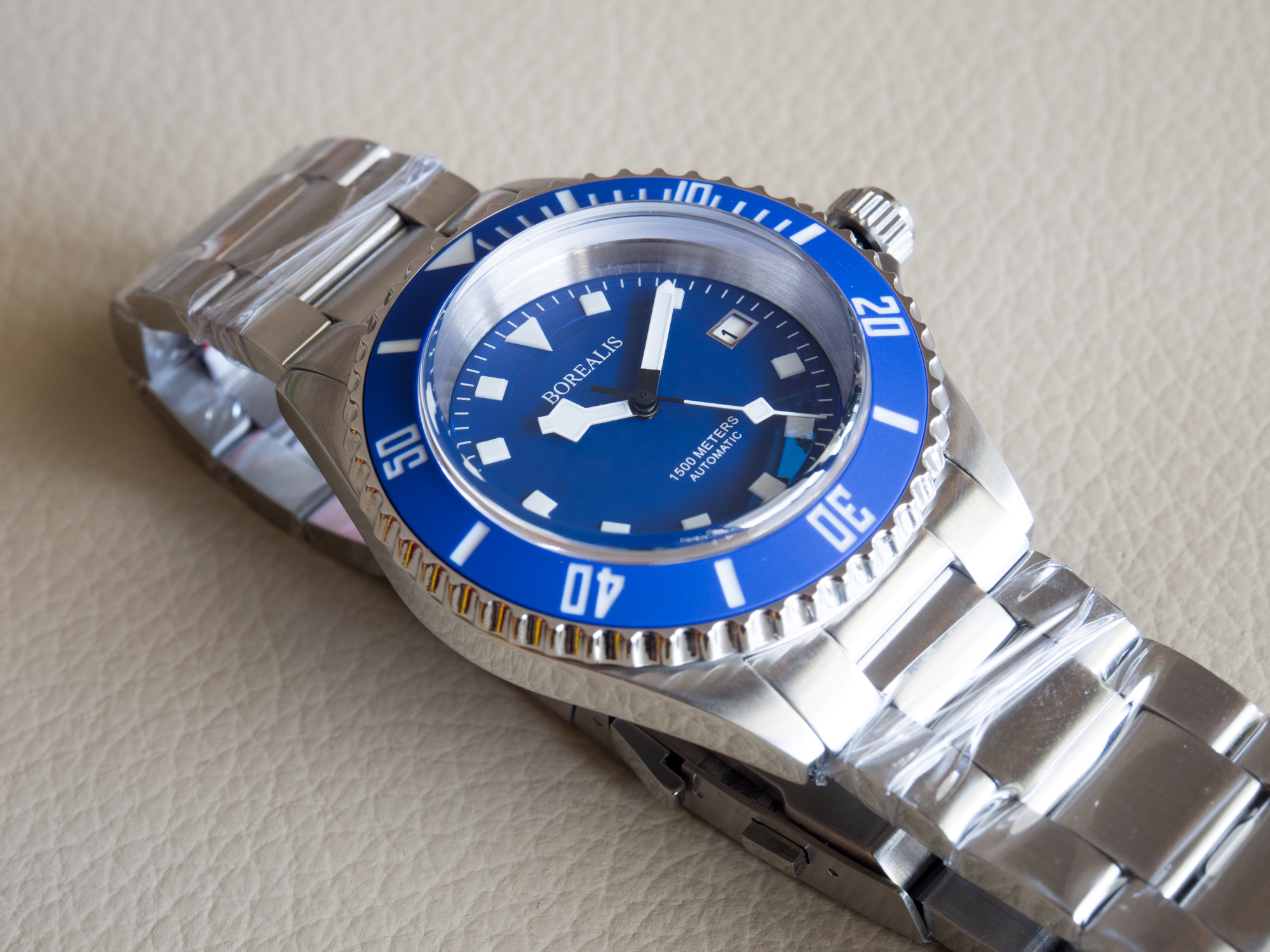 Borealis Sea Hawk 1500m Diver Watch Blue Ceramic Bezel Blue Dial
