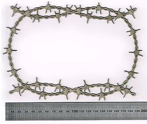 Barbed Wire Ornate Frame Large