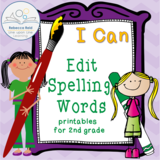 I Can Edit Spelling Words!