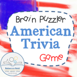 Brain Puzzler American Trivia Review Game