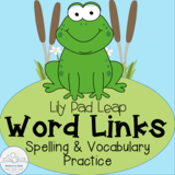 Word Links: Spelling and Vocabulary Practice Lily Pad Leap FREEBIE