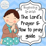 Beginning Spanish: The Lord's Prayer and How to Pray Vocabulary Page