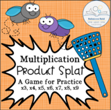 Multiplication Product Splat: Game to Practice Times Tables