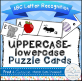 ABC Puzzle Cards (Uppercase-lowercase Alphabet Recognition)