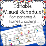 Editable Visual Schedule for Parents and Homeschoolers