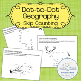 Dot-to-Dot Geography Skip Counting Pages