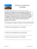 Australia Reading Comprehension