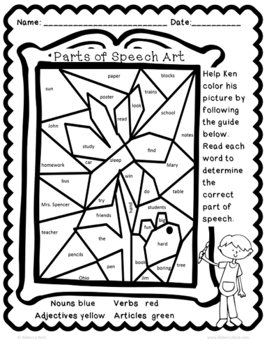 grammar coloring pages - photo#14