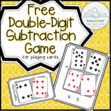 Double Digit Subtraction Game for Playing Cards