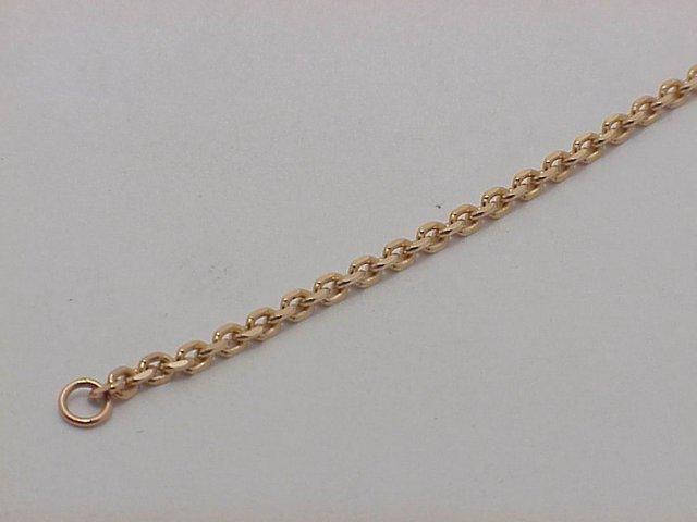 Цепь Якорная без огранки, красное золото, 585 пробы 2мм