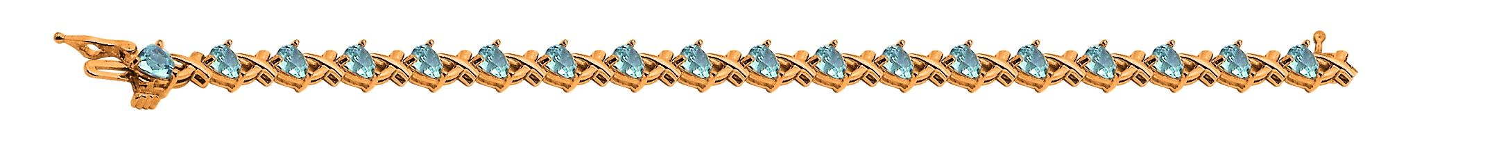 Золотой браслет с самоцветом огранки Треугольник, треугольная форма, различные вставки