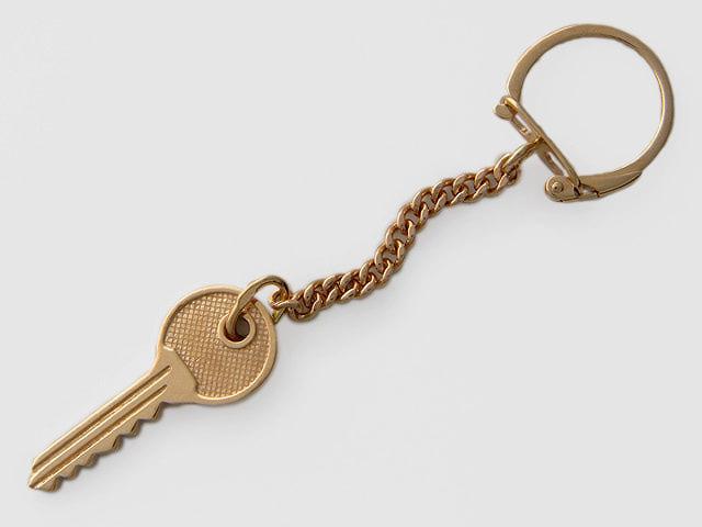 """Брелок для ключей """"Ключ"""", красное золото, 585 пробы"""