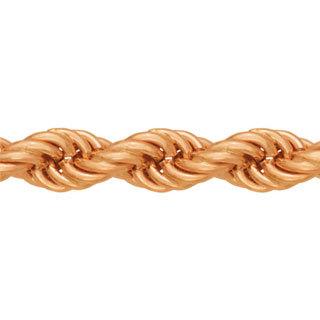 Цепь Верёвка, красное золото 585 пробы 4мм